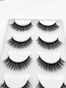 MB 2019 New 5 Pairs 3D Mink Lashes Cruelty Free Eye Lashes 5D Handmade Reusable Natural Mink Eyelashe Popular False Lashe Makeup