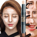 Lady Facial Highlighter Foundation Base Contour Pen Stick Beauty Make Up Face Powder Cream Shimmer Concealer Camouflage Makeup