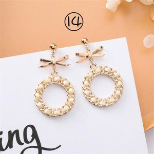 2019 Korean Simple Girl Geometry Cold Style Earrings Fairy Long Tassel Drop Earrings Women Fashion Jewelry Accessories Pendant