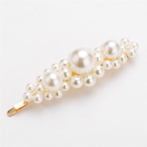 Korean Style Sweet Imitation Pearl Women Barrettes Hairpins Elegant Lady Girls Hair Clip Hairgrips Hair Accessories New 2019