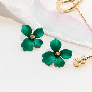2019 New Korean Style Resin Flower Exaggeration Stud Earrings For Girls Women Elegant Party Statement Jewelry Accessories Gifts