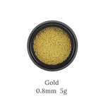0.8mm-1mm 3d Metal Micro Beads Stainless Steel Nails Art Caviar Beads for Nail  Gold Silver Nail Beads Decorations Studs - PrintiLya