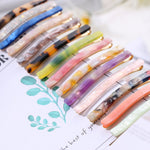 Random Color! 1 Pcs Trendy  Acetic Acid Hairpin Triangle Long Colorful Barrettes Stone Hair Clips Women Hair Styling Accessories - PrintiLya