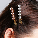 Women Girls Pearl Hair Clips Korean Sweet Hairpins Barrette Bobby Pin Ladies Simple Metal Hairgrip Headwear Hair Accessories - PrintiLya