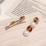 New Arrival 1pc Vintage Faux Fur Leopard Hairpins Women Imitiation Pearl Metal Hair Clips Tool Hair Braiders Styling Accessories - PrintiLya