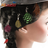 High Quality Vogue Feather Pendant Ornaments Folk Style Headwear Hair Bands Hair Ring Headdress For Women Ladies - PrintiLya