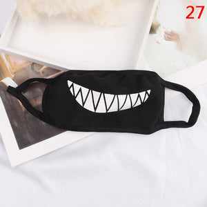 1PC Unisex Cute Cartoon Face Mask Funny Teeth Pattern Anti-bacterial Dust Winter Warm Mouth Mask High Quality - PrintiLya