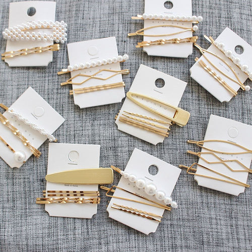 3Pcs/Set Pearl Metal Hair Clip Hairband Comb Bobby Pin Barrette Hairpin Headdress Accessories Beauty Styling Tools New Arrival - PrintiLya