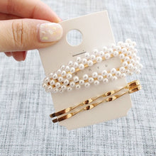 Load image into Gallery viewer, 3Pcs/Set Pearl Metal Hair Clip Hairband Comb Bobby Pin Barrette Hairpin Headdress Accessories Beauty Styling Tools New Arrival - PrintiLya