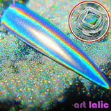 0.5g Chameleon Nail Glitter Dust Mirror Effect Nail Art Chrome Pigment Holographic Nail Powder Manicure Decorations - PrintiLya