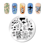 1pcs HOT Designs Flower Women Polish Stamping Plate for Nails Templates Sexy Beauty Image Nail Art Stamp Plates Nail Stencils - PrintiLya