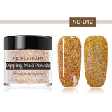 NICOLE DIARY 10ml Dipping System Powder Holographic Chameleon Professional Nail Art Decorations Colorful Shiny Nail Manicure - PrintiLya