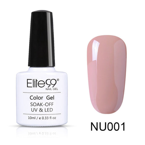 Elite99 10ml Nude Color Gel Polish Nail Art Design Manicure Soak Off Semi Perment Enamel UV Gel Nail Polish Lacquer Varnish - PrintiLya