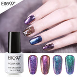 Elite99 7ml 3D Chameleon Gel Nail Polish Color Changing Nail Art Manicure Gel Polish Black Base Needed Soak Off UV Gel For Nail - PrintiLya