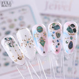 New Nail Decal 3D Sticker Metal Flower Style Exquisite Nail Art Sliders Glitter Jewelry Decoration Adhesive Stickers - PrintiLya