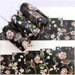 1 PC Black Flower / Eye/Lace Fairy Designs Water Transfer Sticker Nail Art Decals DIY Fashion Wraps Tips Manicure Tools - PrintiLya