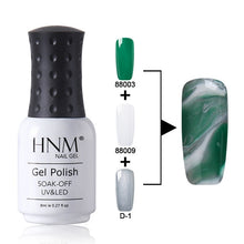 Load image into Gallery viewer, HNM 8ML Nail Gel Changeable Gel Varnish UV LED Soak Off Semi Permanent Multi Color Gel Nail Polish Marble Effect Stamping Enamel - PrintiLya