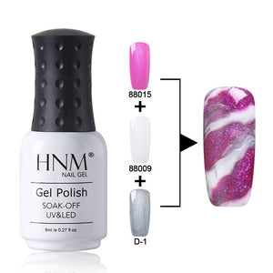 HNM 8ML Nail Gel Changeable Gel Varnish UV LED Soak Off Semi Permanent Multi Color Gel Nail Polish Marble Effect Stamping Enamel - PrintiLya