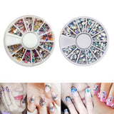 Brand New Mixed Color 3D Nail Art Tips Crystal Glitter Rhinestone DIY Nail Decoration Kits - PrintiLya