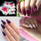50pcs Per Pack Oval Nail Tips Purchase Sizes Individually Natural Clear Color Full Cover Nail Manicure Size 0 1 2 3 4 5 6 7 8 9 - PrintiLya