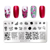 NICOLE DIARY Nail Art Stamp Template Flower Rose Animal Image Pattern Printing Plate for Manicure Stencil - PrintiLya