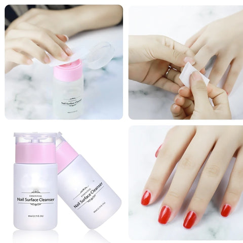 Belen New Pro Cleanser Plus Removes Excess Gel Enhance Shine Sticky Remover Nail Polish Gel Sticky Liquid Manicure Tool 80ml - PrintiLya