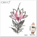 Temporary Tattoo Women Body Arm Stickers Flower Geometric Watercolor Planet Water Transfer Tatoo Girl Adhesive Fake Tattoo Flora - PrintiLya