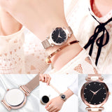 Luxury Women Watches Ladies Magnetic Starry Sky Clock Fashion Diamond Female Quartz Wristwatches - PrintiLya