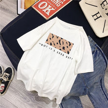Load image into Gallery viewer, Hirsionsan Leopard Print T shirts Women 2019 Spring Summer Hot Tees Casual O-Neck Short Sleeve Harajuku Cool T-shirt Female Tops - PrintiLya