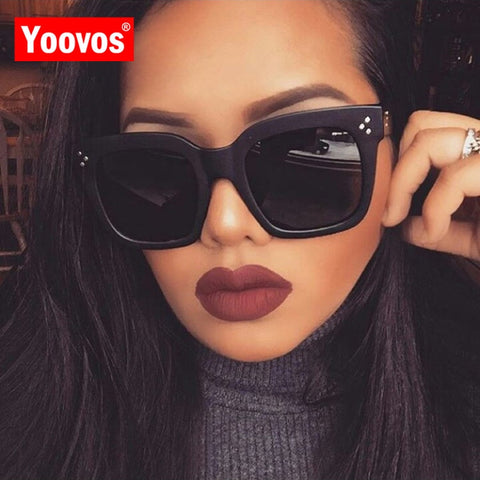 Yoovos 2019 New Square Sunglasses Women Brand Designer Retro Mirror Fashion Sun Glasses Vintage Shades Lunette De Soleil Femme - PrintiLya