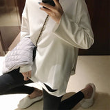 Women  Spring Tee Shirt Long Sleeve T Shirt Womens Tops Hollow Out Korean Style T-Shirt Cotton New Plus Size Long Tshirt - PrintiLya