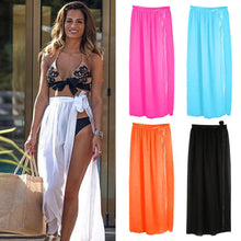 Load image into Gallery viewer, Womens Swim Wear Bikini Cover Up Sheer Beach Mini Wrap Skirt Sarong Pareo Shorts - PrintiLya