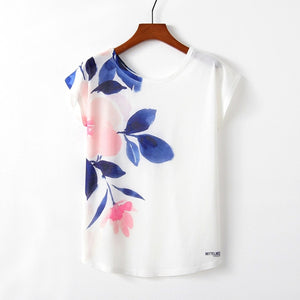 Spring Summer Women T Shirt  Cute Style Bird Print T-shirt New Short Sleeve - PrintiLya
