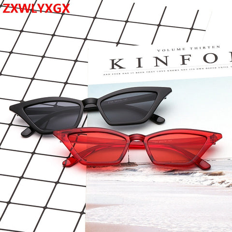 ZXWLYXGX 2019 new cat eye sunglasses women brand design retro colorful transparent colorful fashion cateye sun glasses men UV400 - PrintiLya