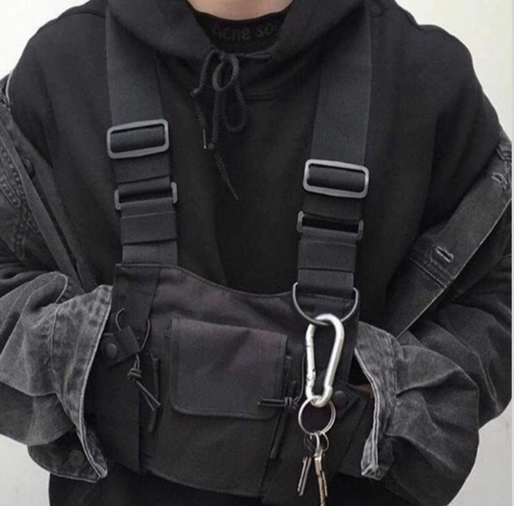 Blackout Chest Bag Streetwear Brand Techwear Combat Tactical YUGEN THEORY