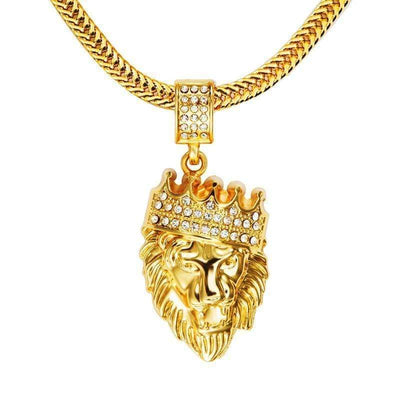 Blingy The Lion Pendant & Necklace Streetwear Brand Techwear Combat Tactical YUGEN THEORY