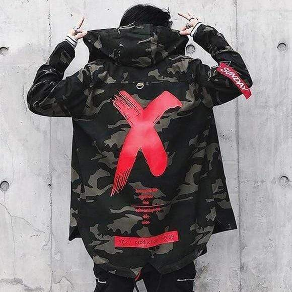 Camo Cross Out Jacket Streetwear Brand Techwear Combat Tactical YUGEN THEORY