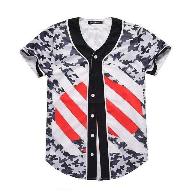Camo Striped Jersey Streetwear Brand Techwear Combat Tactical YUGEN THEORY