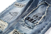 Distressed Graffiti Jeans Streetwear Brand Techwear Combat Tactical YUGEN THEORY
