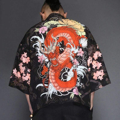 Dragon Kimono Shirt Streetwear Brand Techwear Combat Tactical YUGEN THEORY