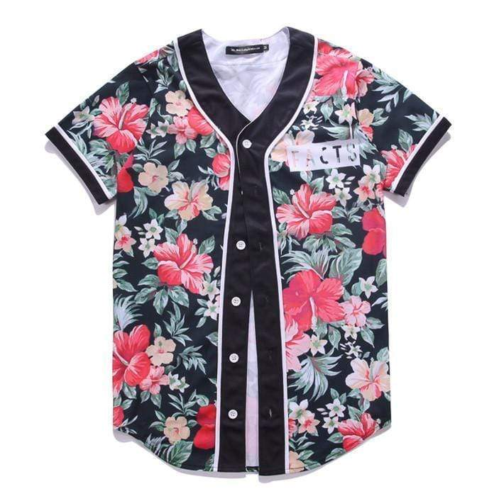 Floral Jersey Streetwear Brand Techwear Combat Tactical YUGEN THEORY