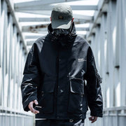 Functional wind Hooded jacket Streetwear Brand Techwear Combat Tactical YUGEN THEORY