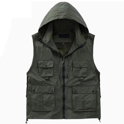 Hooded Tactical Vest Streetwear Brand Techwear Combat Tactical YUGEN THEORY