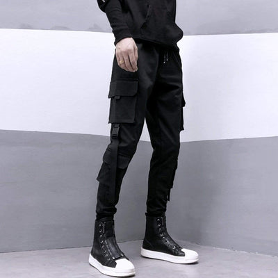 Multi Pockets Ribbons Pants Streetwear Brand Techwear Combat Tactical YUGEN THEORY