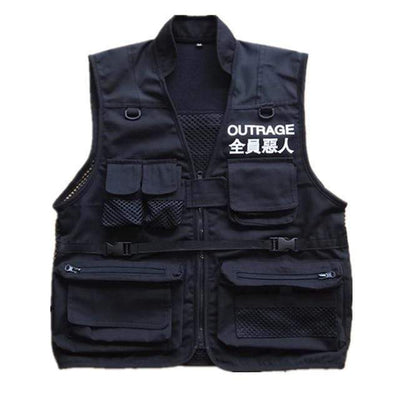 Outrage Vest Streetwear Brand Techwear Combat Tactical YUGEN THEORY