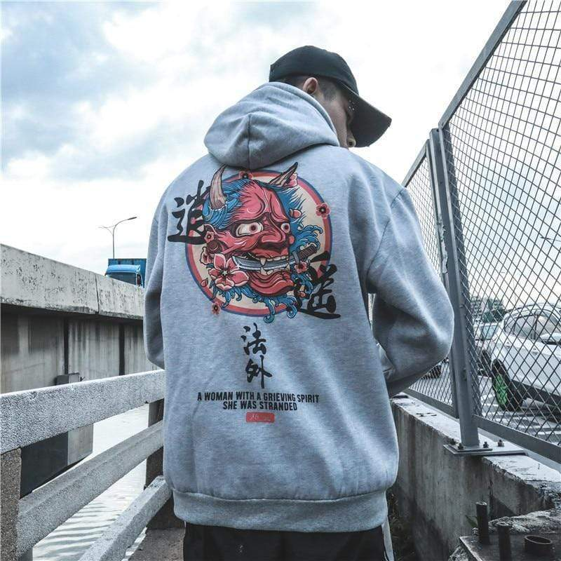 Red Devil Hoodie Streetwear Brand Techwear Combat Tactical YUGEN THEORY
