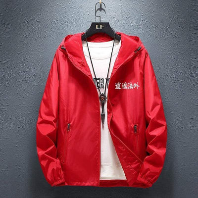 Red Devil Windbreaker Streetwear Brand Techwear Combat Tactical YUGEN THEORY