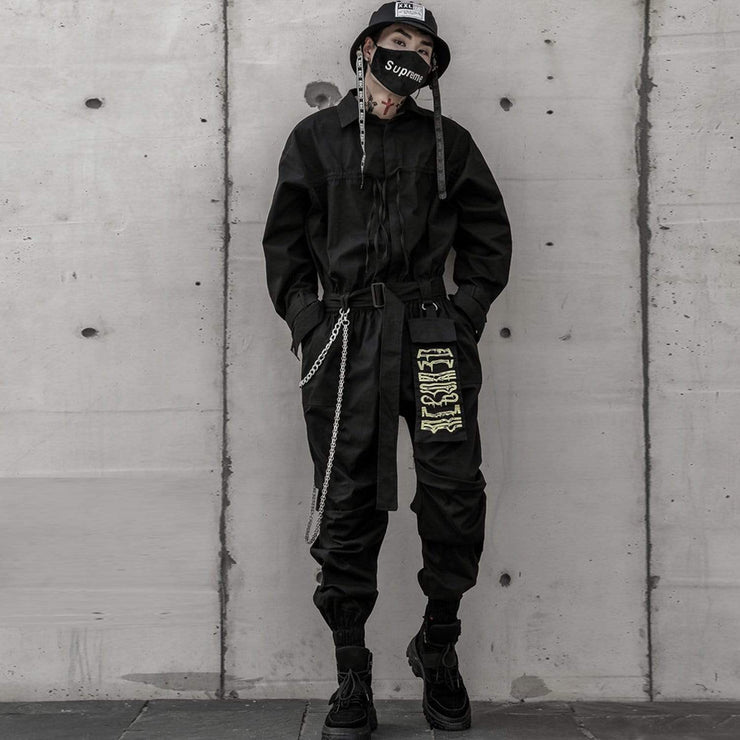 Ribbon embroidery Onesies Streetwear Brand Techwear Combat Tactical YUGEN THEORY