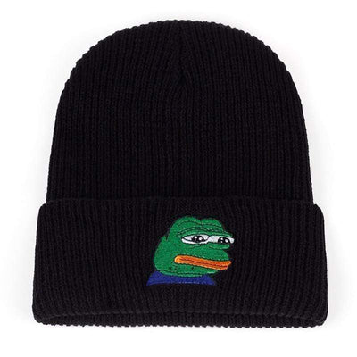 Sad Frog Beanie Streetwear Brand Techwear Combat Tactical YUGEN THEORY