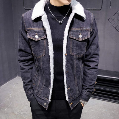 Solid color Denim Jacket Streetwear Brand Techwear Combat Tactical YUGEN THEORY